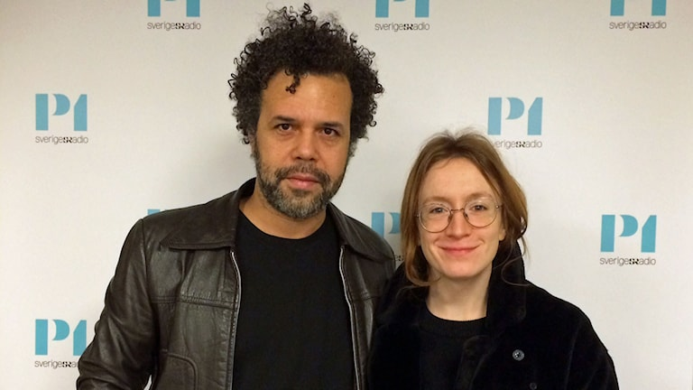 Mikael Marcimain och Emelie Jonsson. Foto: Helena Ulander/Sveriges Radio.