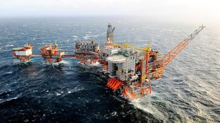 Alla ombord på Valhall-plattformen har evakuerats. Foto: BP Norge