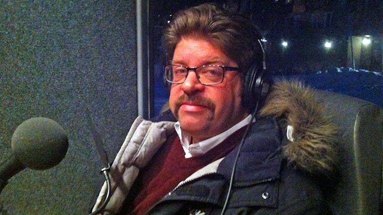 Einar Spetz, presstalesperson för den svenska språkversionen av Wikipedia. Foto: Jan Flodby/Svergies Radio
