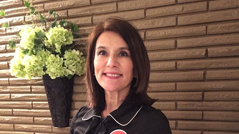Cassie Hicks är valarbetare för den republikanske senatorn Ted Cruz som driver kampanj för att bli USAs nästa president. Foto: Inger Arenander/Sveriges Radio