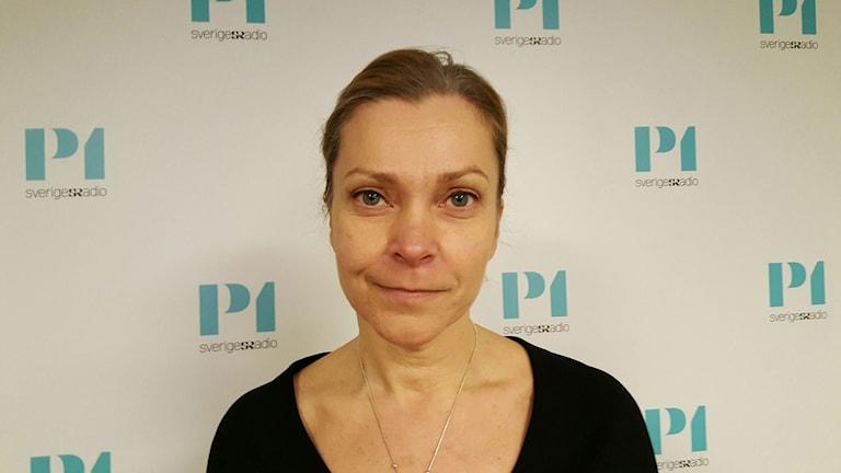 Lena Nitz, Polisförbundets ordförande. Foto: Lena Wiktorin/Sveriges Radio