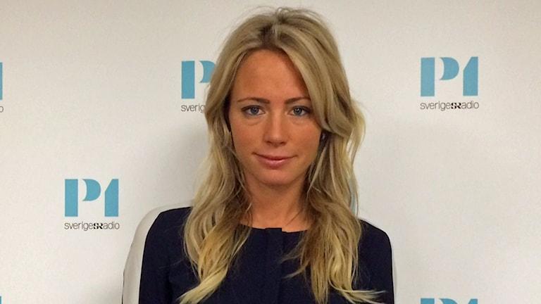 """Carolina Neurath, aktuell med deckaren """"Fartblinda"""". Foto: Helena Ulander/Sveriges Radio."""