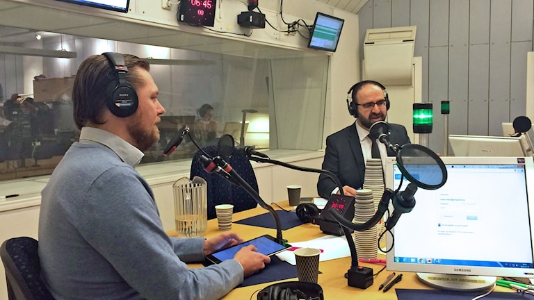 Mehmet Kaplan (MP), bostadsminister och Günther Mårder vd för arbetsgivarorganisationen Företagarna