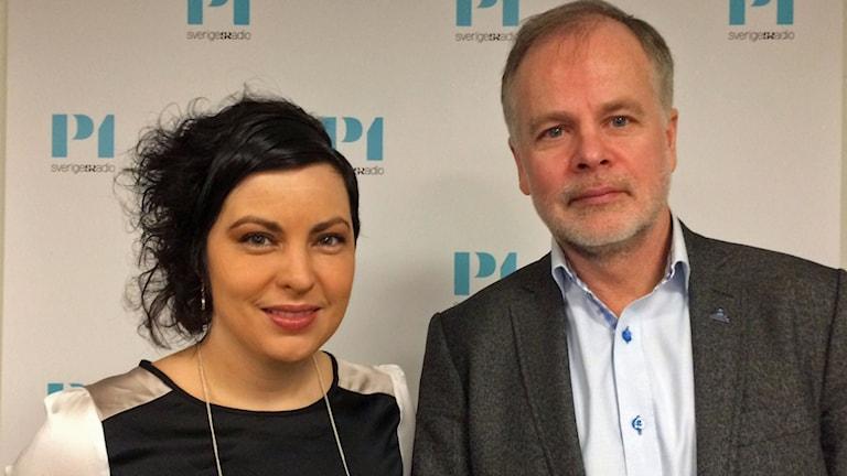 Terese Bengard, Hela Sverige ska leva och Anders Almgren, vice föbundsordförande i Lärarnas Riksförbund.