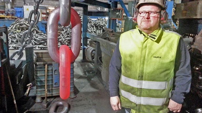 Yrjö Koponen är ordförande för IF Metall på bruket.
