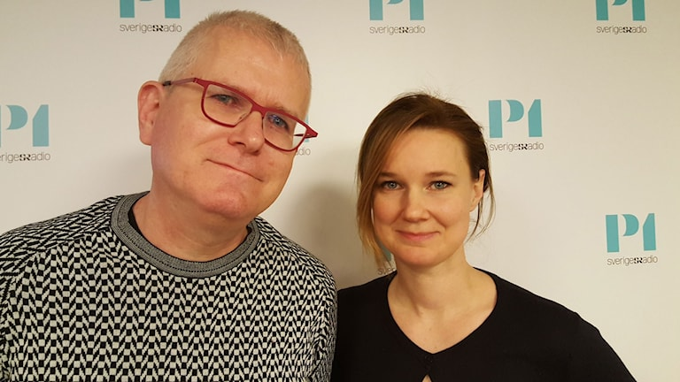Per Wirtén, ledarskribent Dagens Arena och Karin Svanborg Sjövall, VD tankesmedjan Timbro.