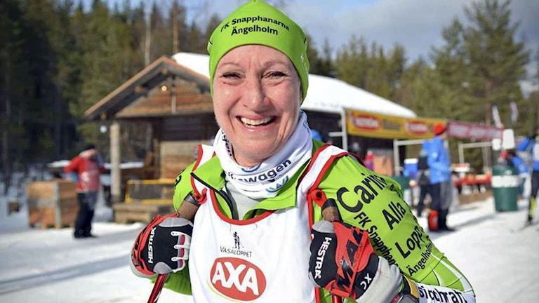 Carina Hammarstrand, kvinna i skidspåret