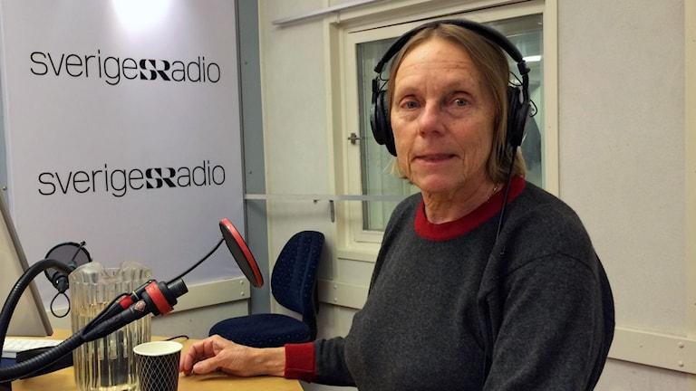 Marie Söderberg i P1-morgons studio