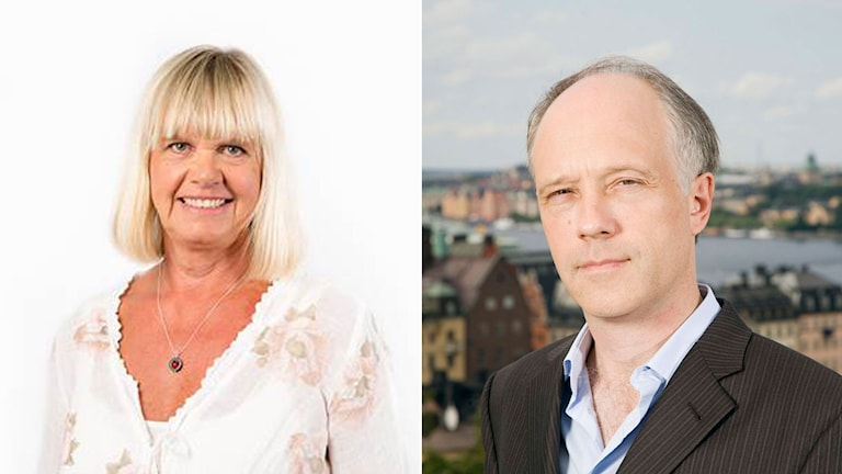 Asienkorrespondent Margita Boström och hennes tidigare kollega Nils Horner.