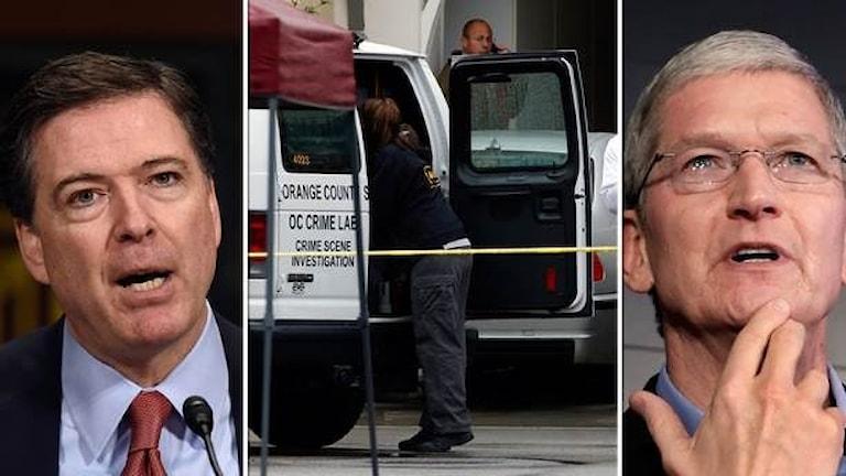 Apples VD Tim Cook och FBI:s James Comey.