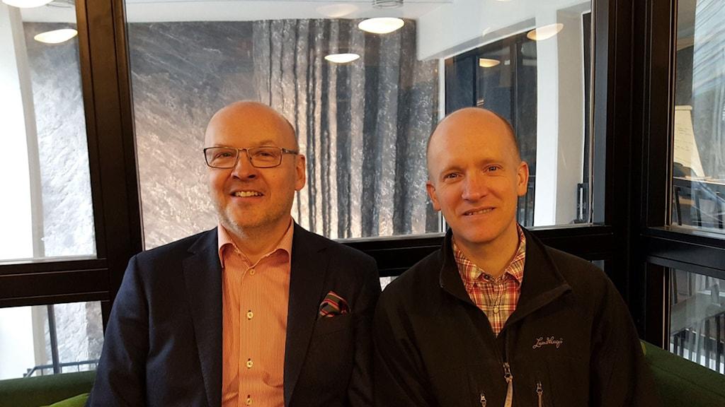 Dan Brännström, Revisionsbolagens branschorganisation FAR och Albin Rännar, Aktiespararna.