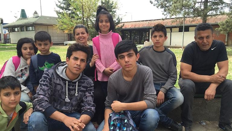 Familjen från Sulaymaniyya i irakiska Kurdistan vandrade i 15 timmar från Bulgarien till Serbien.