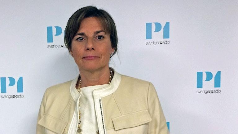 Isabella Lövin (MP), biståndsminister och kandiderande språkrör.