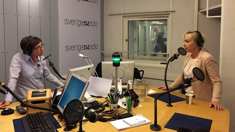 Minister Helen Hellmark Knutsson explained her decision on Swedish Radio this morning. Photo: Ida Bellinder/Sveriges Radio