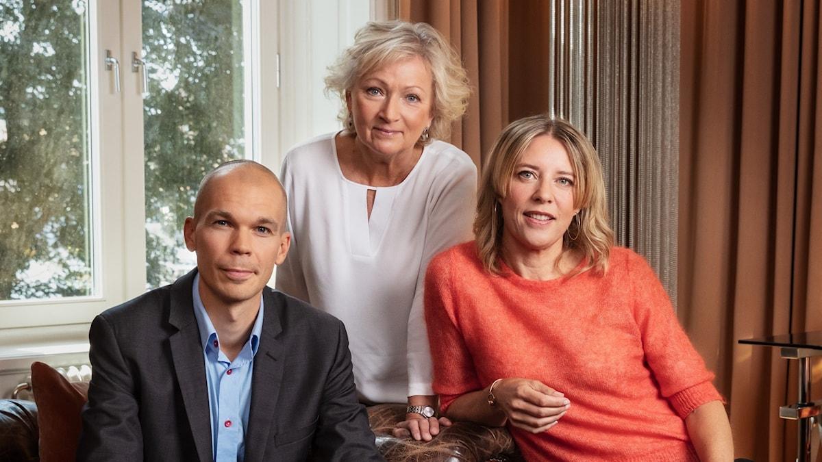 P1-morgon Mikael Kulle, Anna Hernek och Katherine Zimmerman P1 Sveriges Radio
