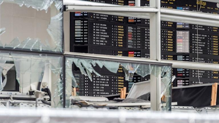 Terrordådet i Bryssel den 23 mars 2016.