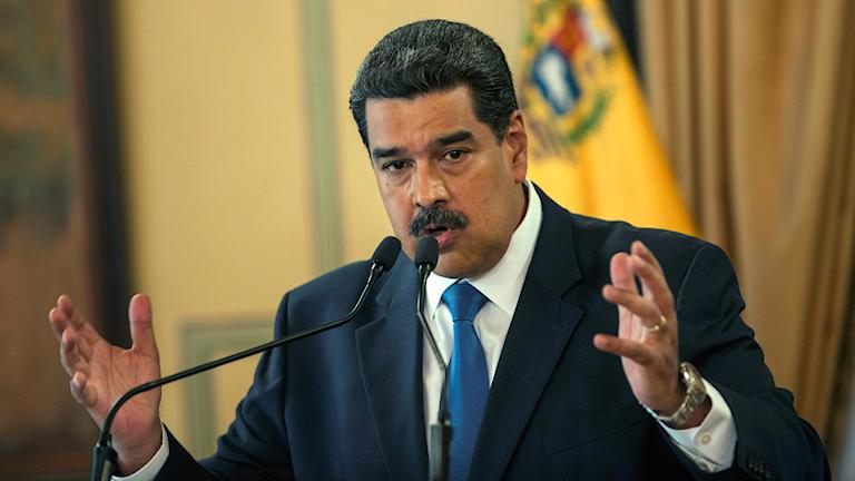 Venezuelas president Maduro. Foto: Rodrigo Abd/TT.