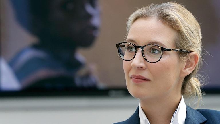Alice Weidel, toppkandidat i tyska högerpopulistiska partiet AfD.
