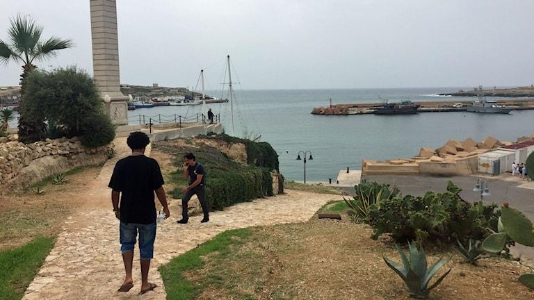 Tre år har gått. Adal Neguse är tillbaka på Lampedusa där han förlorade sin bror i den tragiska båtolyckan.