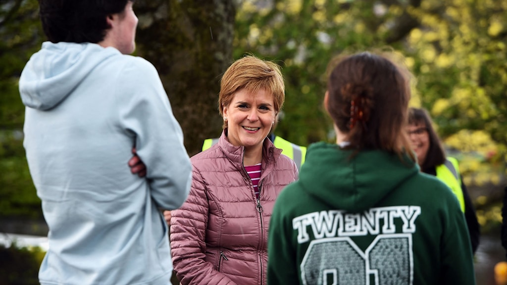 Det skotska regeringspartiet SNP:s ledare Nicola Sturgeon.