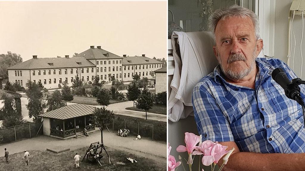 Gammal bild från anstalten Vipeholm i Lund och Leif Losell, vars bror Bertil var intagen där.
