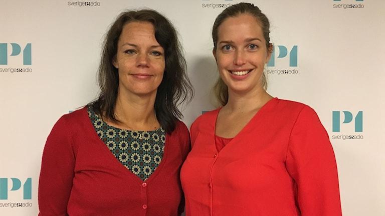 Veronica Palm och Linda Nordlund.