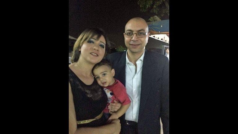 Amal Fathey, Mohamed Lotfy och parets treårige son.