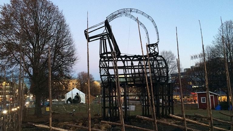 Resterna efter bocken i Gävle 2016.