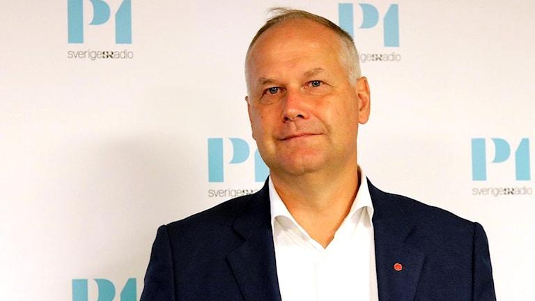 Partiledare Jonas Sjöstedt (V).