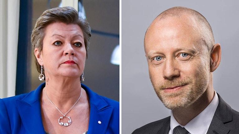 Ylva Johansson och Niklas Beckman.