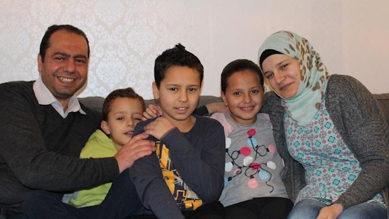 Ali, Mohammad, Abdullah, Reema och Sanaa återförenades i Sverige för ett år sedan.