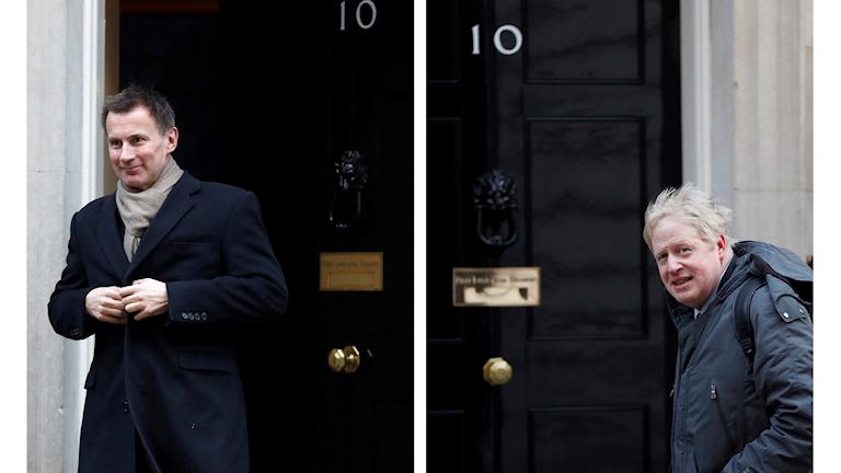 Jeremy Hunt och  Boris Johnson vill båda få nyckeln till Downing Street 10.
