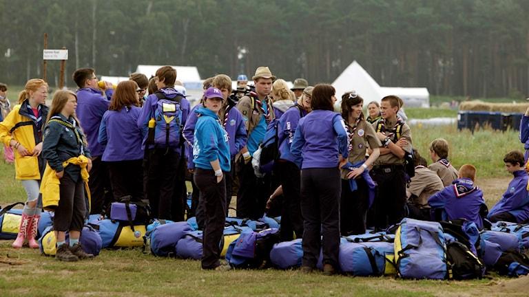 Scoutjamboree i Kristianstad.