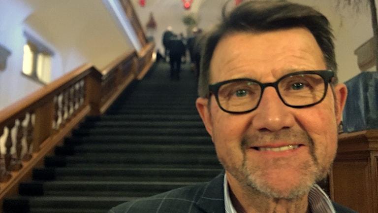 Helge Sander, politiker i det borgeliga partiet Venstre och Formel 1 entusiast.
