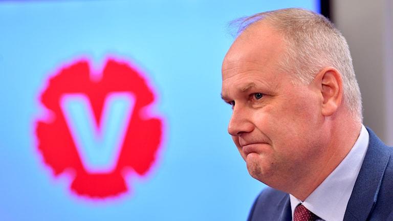 Partiledaren Jonas Sjöstedt (V).