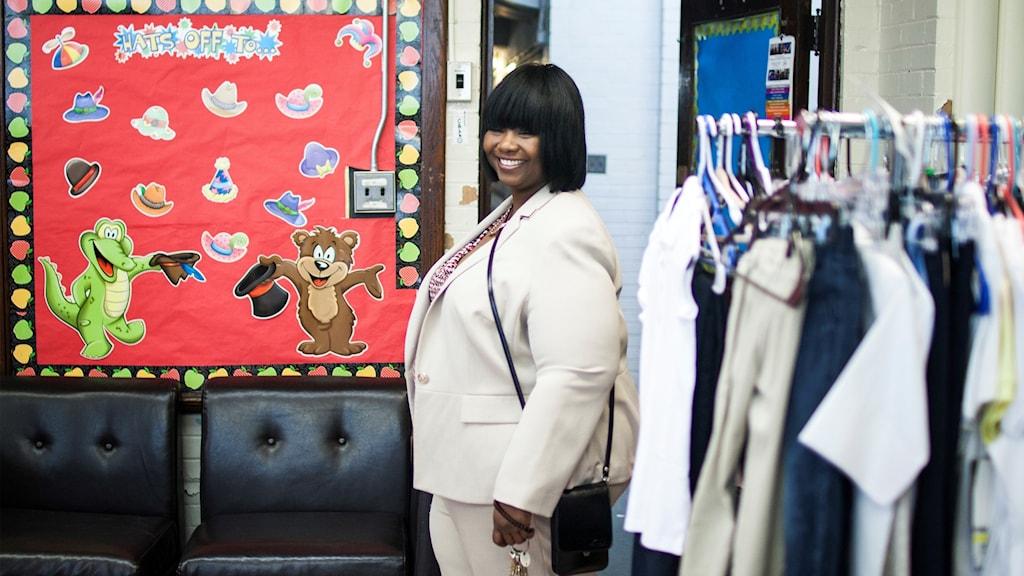 """I """"affären"""" kan elever få kläder som de saknar."""