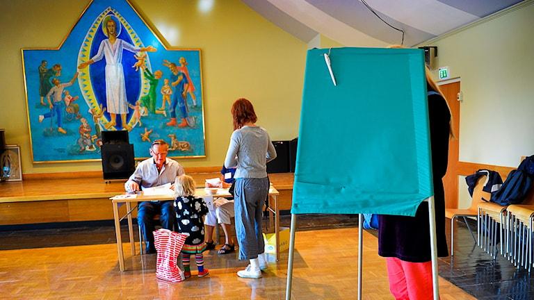 Valförrättning i Brännkyrka kyrka i Stockholm.