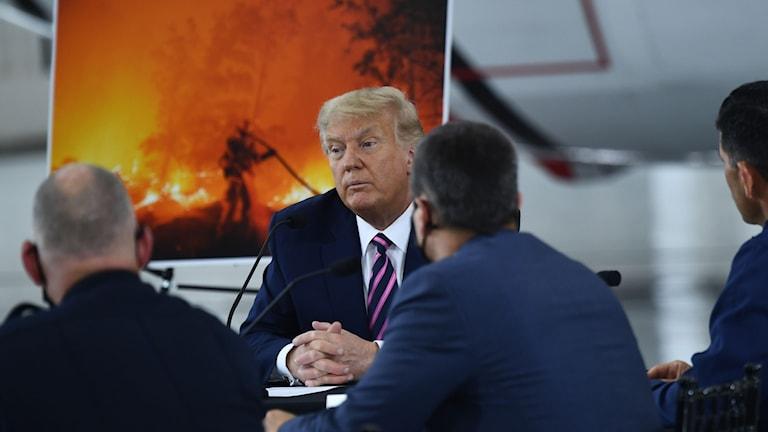Trump på möte.