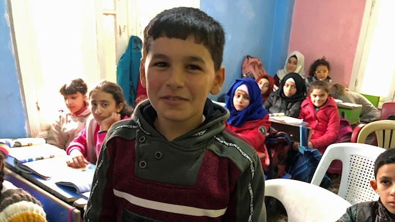 Alameddin,11, som tidigare gick i IS-skola.