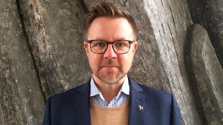 Centerpartiets toppkandidat inför EU-valet, Fredrick Federley. Foto: Frida Carlqvist/Sveriges Radio.