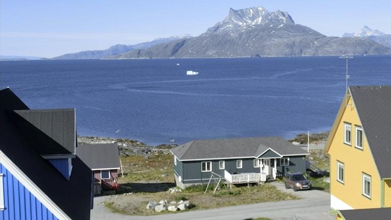 Huvudstaden Nuuk, Grönland.