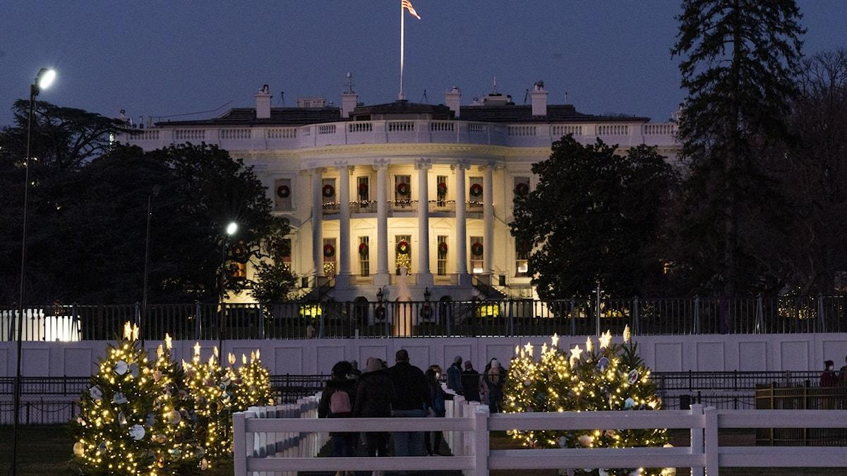Bild på Vita Huset i Washington.
