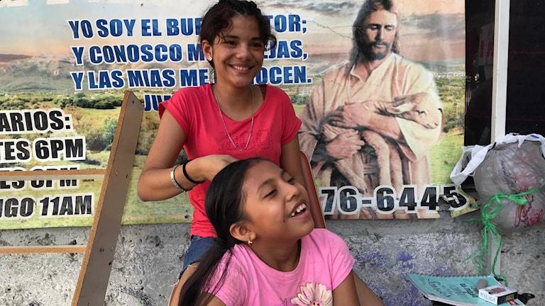 Flickor i härbärget Ciudad Juarez.