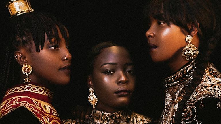 Niki Tsappos, Doreen Ndagire och Imenella Mohamed.