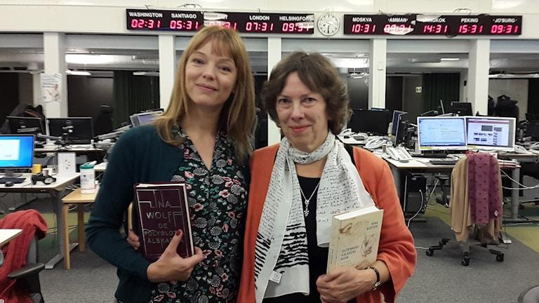 Lina Wolff och Nina Burton.