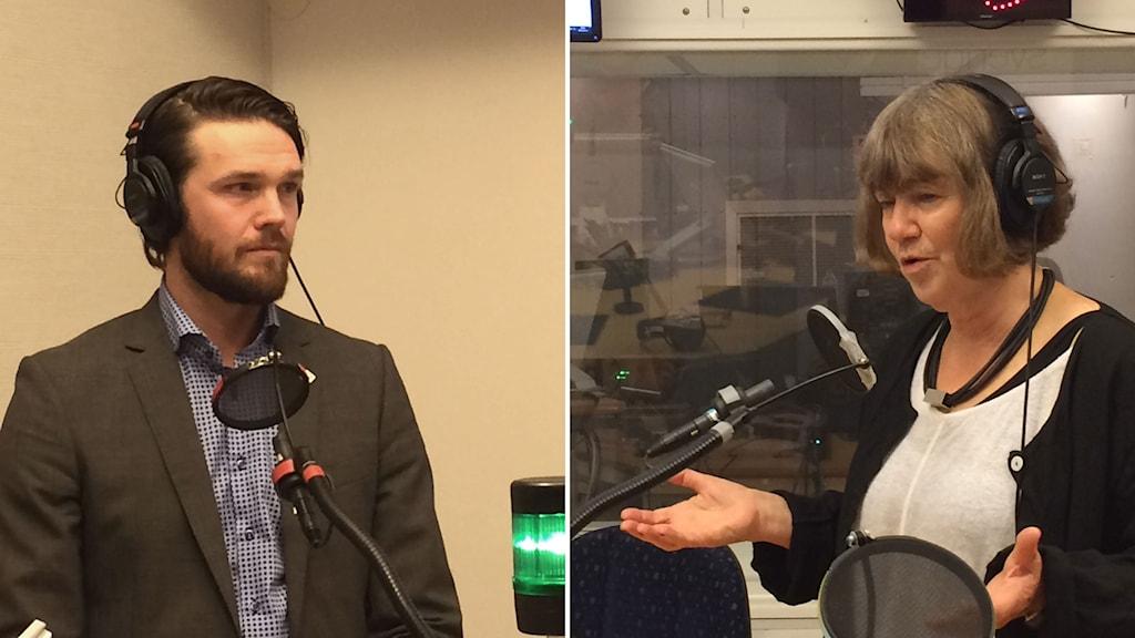 Arvid Widenlou Nordmark, enhetschef för Socialstyrelsen, och Ingela Heimann expert i psykiatriska frågor vid Inspektionen för Vård om omsorg.