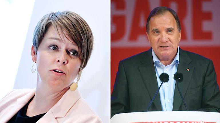 Malmös kommunstyrelseordförande Katrin Stjernfeldt Jammeh  och statsminister Stefan Löfven.