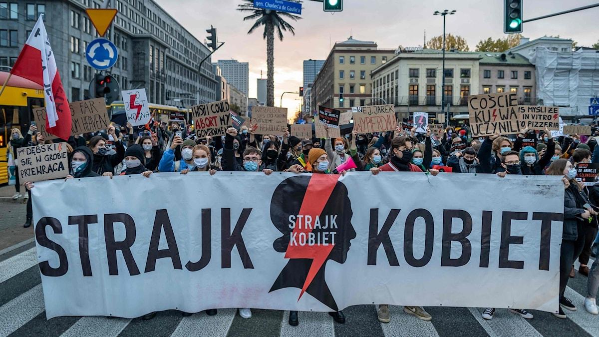 Polen. Abort. Demonstration.