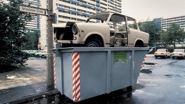 Fotografi: Under DDR-tiden var Trabbin eftertraktad men när väst-bilar blev tillgängliga var den bara skräp.