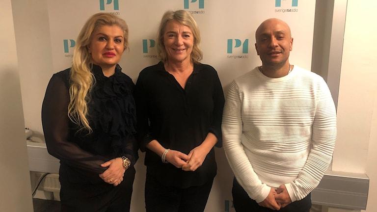 Bahar Vaziri, Mathias Gebreab och Marianne Gustavsson.